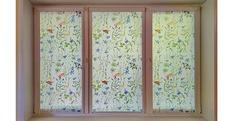 Рулонные шторы с рисунком - Флора