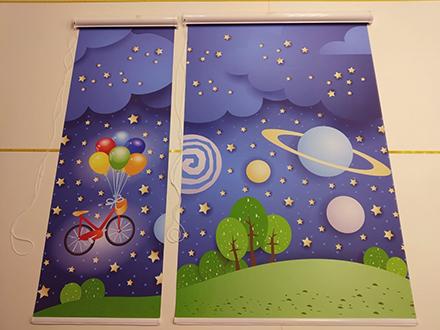 Детские рулонные шторы для пластиковых окон